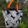 BLACK AND WHITE  REVERSIBLE TOTE