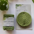 Pamper Pack - Body & Face Scrubbies - Handmade- 100% cotton