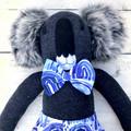 'Syd' the Sock Koala - blue rainbows - *MADE TO ORDER*