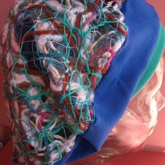 Marian - floating fibre beret