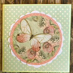 Handmade Card - BUTTERFLY theme