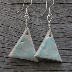 Unique handmade ceramic earrings.