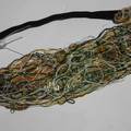 Goldie - floating fibre  reversible head band