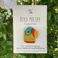 Ode To Frida Wooden Parrot Brooch