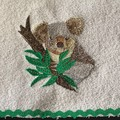 Babies Embroidered Towelling Bibs-AUS-KOALA