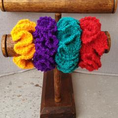 Crochet scrunchies - Full Size -  Bright Gang