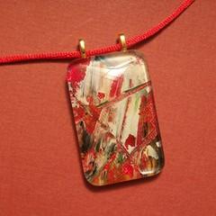 Solvig - painted pendant