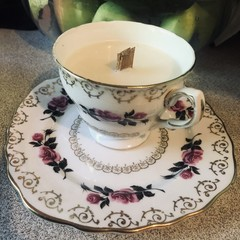 Vintage Colclough Teacup Scented Soy Candle