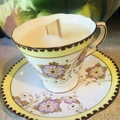 Vintage Royal Stafford Teacup Soy Candle