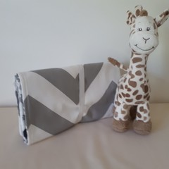 CHEVRON - GREY AND WHITE  LARGE CHANGE MAT/PLAY MAT