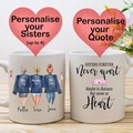 Personalised Sister Mug, Lil Sis Mug, Middle Sis Mug, big sister Mug, Birthday G