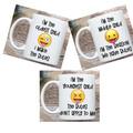 Set of 3 Emoji Coffee Mugs, Child Rules Mug Set, Older Child Mug - Middle Child