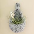 Crochet hanging pod   home decor   storage basket   PASTEL BLUE