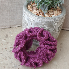 Crochet scrunchies - Full Size - Starlight Sparkle Colour Mix #1
