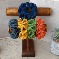 Crochet scrunchies - Full Size - My Favourite Things