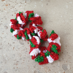 Crochet scrunchies - minis - set of 2 - Christmas in July