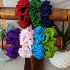 Crochet scrunchies - Full Size - Sparkle Town