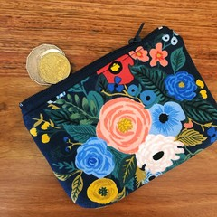 Coin purse - Wild Garden Navy