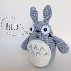Totoro soft toy crochet