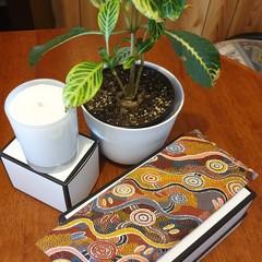 Eye pillow (aboriginal print light brown)