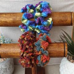 Crochet scrunchies - Full Size - Autumn Faves
