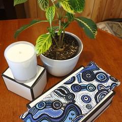 Eye Pillow (aboriginal print blue/white)