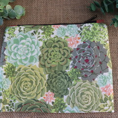 Zippered Pouch- Succulent