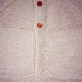 Hand Knitted Taupe Unisex Baby Cardigan for 6-12 month old.