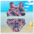 CLEARANCE TOGS... Pink Navy Hibiscus Girls Shorts Swimsuit Set - FREE POST