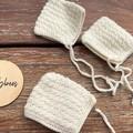 Crochet  Baby Pixie Baby Bonnets