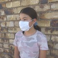 Size M/ Handmade Pleated Face Mask with filter pocket and Nose Wire