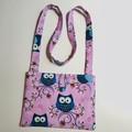 Pink Owls cross-body bag