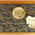 Table linen. Oriental. gold accent. Reversible