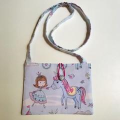 Princess and unicorns cross-body bag