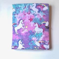 Pink and purple unicorns notepad set