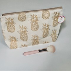 Gold pineapples toiletries bag