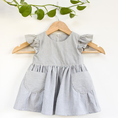 Size 1 Ethical Fluttersleeve & Pockets Toddler Dress