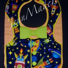 Space Appliqued Bib
