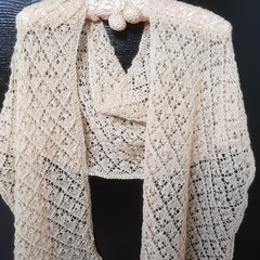 Knitted Lace Scarf
