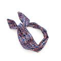 Navy Coral Bows Wire Headband Bohemian Rockabilly Headband Vintage Headscarf