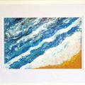 WALL ART Ocean Theme SET OF 2 Acrylic Pour