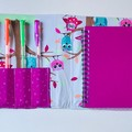 Colourful owls notepad set