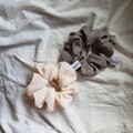 The Minimalist Package Scrunchie - Two Regular Chiffon Size Upcycled Scrunchies