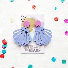 Pastel Seashell Statement Dangles