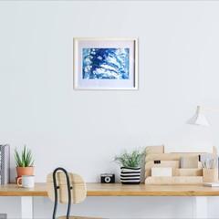 WALL ART Abstract Ocean Theme Acrylic Pour