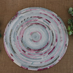 Rope Heat pads- Pink and Grey  Large, medium and small available