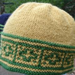 Pure wool beanie unisex yellow and green Aussie