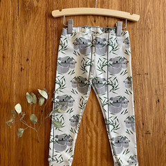 leggings - koala / unisex child / eco friendly organic cotton