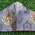 Hogwarts Emblem Face Mask size Adult/Large Choose your house.