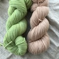 'Granny Smith' 5ply hand dyed superfine merino yarn